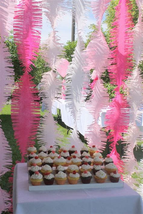 Pink Ombre Frilly Party Streamers   Frolic and Frills