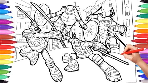 Coloring Page Ninja Turtles | Coloring Pages For Kids
