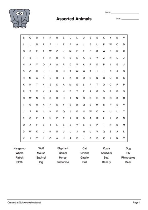 Word Scramble, Wordsearch, Crossword, Matching Pairs and